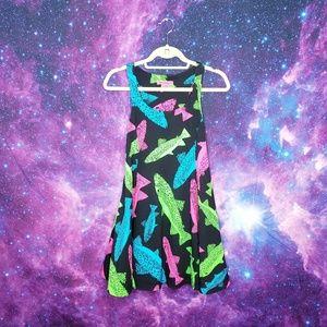 NWOT Betsey Johnson Neon Fish Mini Dress SMALL